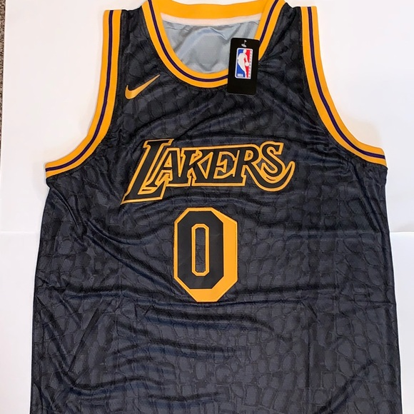 san francisco 5a7e4 1858a Kyle Kuzma Los Angeles Lakers Black Mamba Jersey NWT